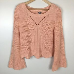 Aerie Cropped Length Bell Sleeve Sweater M